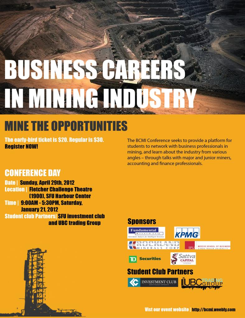 mining businese poster