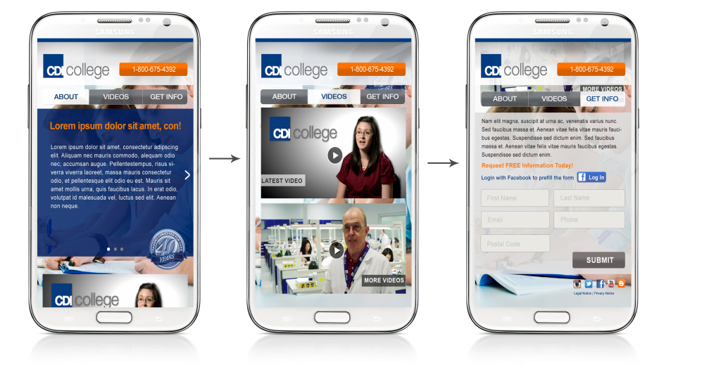 CDI Mobile Lanidng Page all