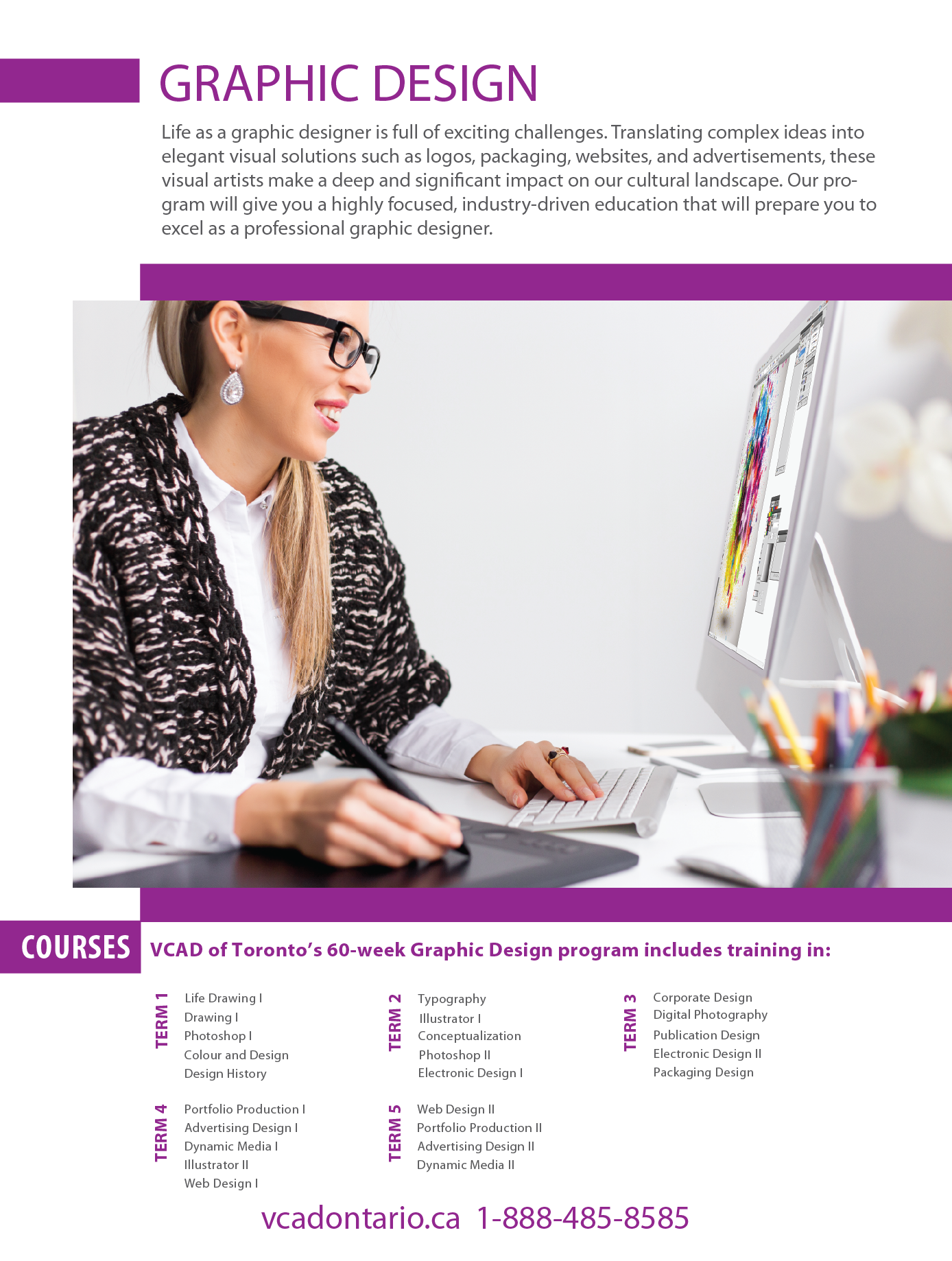 Graphic Design subjects on online tutoring collin college